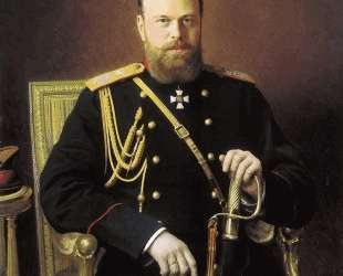 Portrait of Alexander III — Иван Крамской