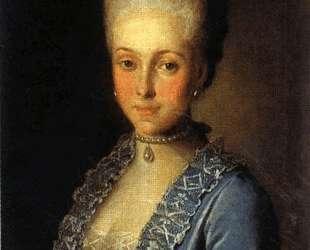 Portrait of Alexandra Perfilyeva, nee Countess Tolstaya — Карл Людвиг Христинек