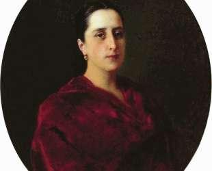 Портрет неизвестной в красном платье — Константин Маковский
