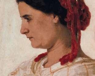 Portrait of Angela Bocklin in red fishnet — Арнольд Бёклин