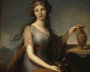 Portrait of Anna Pitt as Hebe — Элизабет Луиза Виже-Лебрен