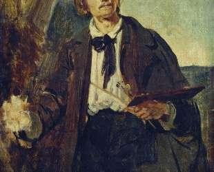 Портрет художника Александра Павловича Попова (Московского) — Константин Маковский