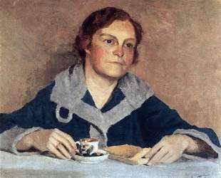 За чтением. Портрет В. М.Грабарь, жены художника — Игорь Грабарь