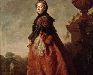 Portrait of Augusta of Saxe Gotha, Princess of Wales — Аллан Рэмзи