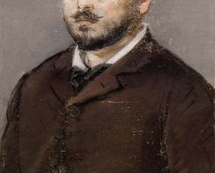 Portrait of composer Emmanual Chabrier — Эдуард Мане