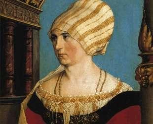 Portrait of Doprothea Meyer, nee Kannengiesser — Ганс Гольбейн Младший