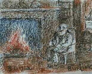 Портрет Эльшемиуса — Давид Бурлюк