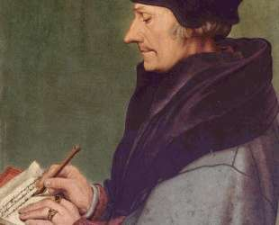 Portrait of Erasmus of Rotterdam Writing — Ганс Гольбейн Младший