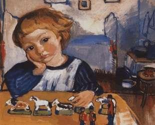 Портрет Жени Серебрякова — Зинаида Серебрякова