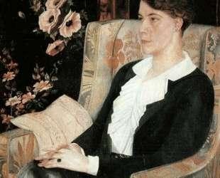 Портрет Евдокии Николаевны Глебовой, сестры художника — Павел Филонов