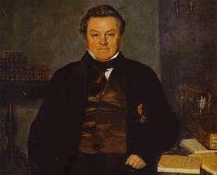 Portrait of F. Ye. Yakovlev — Павел Федотов