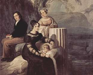Portrait of Familie Stampa di Soncino — Франческо Хайес