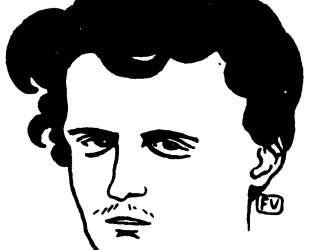 Portrait of French poet le Comte de Lautreamont — Феликс Валлотон