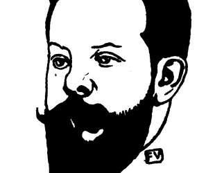 Portrait of French poet Pierre Quillard — Феликс Валлотон