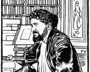 Portrait of French writer Octave Uzanne — Феликс Валлотон