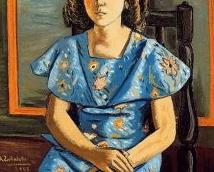 Portrait of girl sitting — Рафаэль Забалета