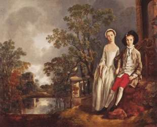 Portrait of Heneage Lloyd and his Sister, Lucy — Томас Гейнсборо