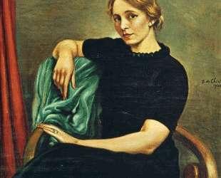 Портрет Изы в черном платье — Джорджо де Кирико