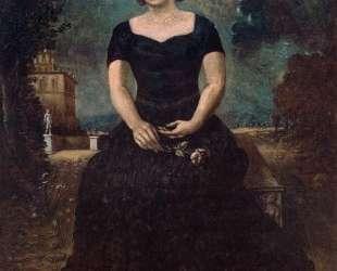 Портрет Изы с розой в парке — Джорджо де Кирико