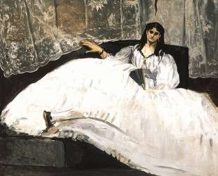 Jeanne Duval, Baudelaire's Mistress, Reclining (Lady with a Fan) — Эдуард Мане