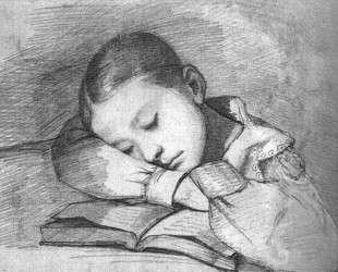 Портрет Жюльетты Курбе как спящего ребенка — Гюстав Курбе