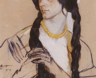 Портрет О. К.Лансере — Зинаида Серебрякова