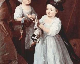 Portrait of Lady Mary Grey and Lord George Grey — Уильям Хогарт