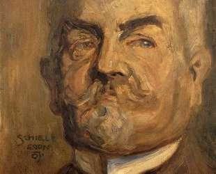 Portrait of Leopold Czihaczek (Head of a Bearded Man I) — Эгон Шиле