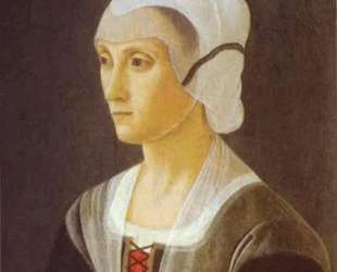 Portrait of Lucrezia Tornabuoni — Доменико Гирландайо