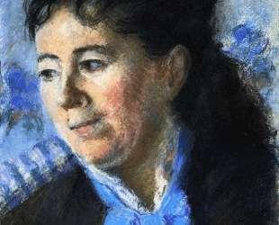 Portrait of Madame Felicie Vellay Estruc — Камиль Писсарро