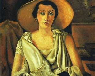 Portrait of Madame Paul Guillaume with a large hat — Андре Дерен