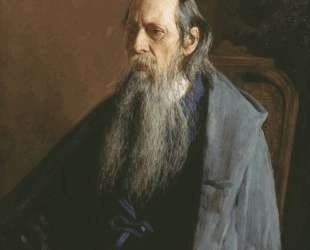Portrait of Mikhail Yevgrafovich Saltykov-Shchedrin — Николай Ярошенко