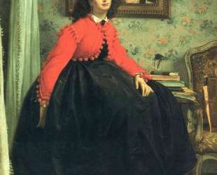 Portrait of Mlle. L. L. (Young Lady in a Red Jacket) — Джеймс Тиссо