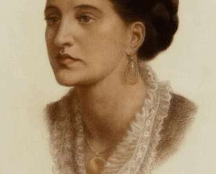 Portrait of Mrs Georgin A Fernandez — Данте Габриэль Россетти