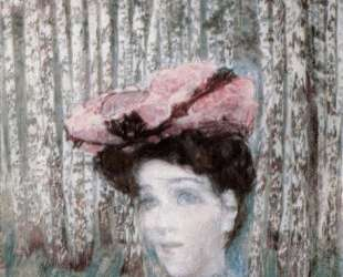 Portrait of N. Zabela-Vrubel on the Edge of a Birch Grove — Михаил Врубель