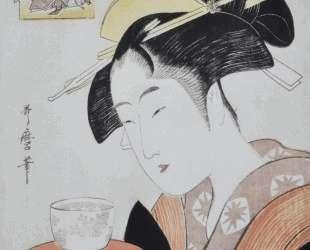 Portrait of Naniwaya Okita — Китагава Утамаро