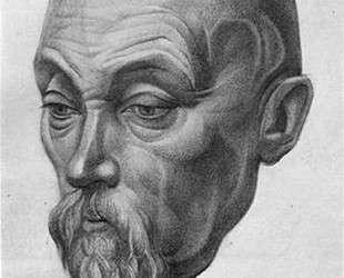 Портрет Н. К. Рериха — Давид Бурлюк