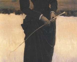 Portrait of Olga Nesterova (Woman in a Riding Habit) — Михаил Нестеров