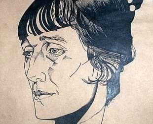 Portrait of poet Anna Akhmatova — Юрий Анненков