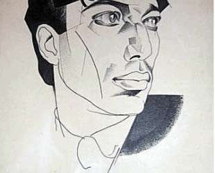 Portrait of poet Boris Pasternak — Юрий Анненков