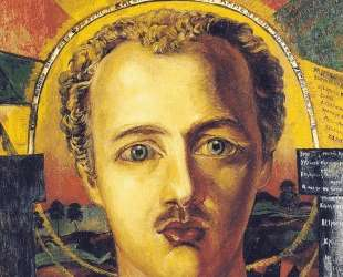 Портрет поэта-футуриста Василия Каменского — Давид Бурлюк