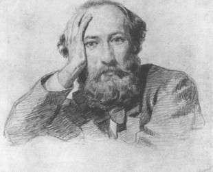 Portrait of Russian baritone opera singer Gennady Kondratiev — Николай Ге