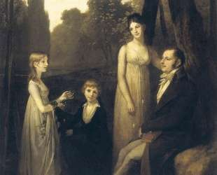 Portrait of Rutger Jan Schimmelpenninck and his family — Пьер Поль Прюдон