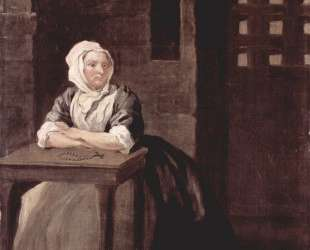 Portrait of Sarah Macholm in Prison — Уильям Хогарт