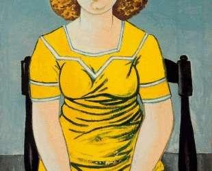 Portrait of seated blonde woman — Рафаэль Забалета