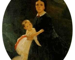 Портрет Шестовой с дочерью — Николай Ге