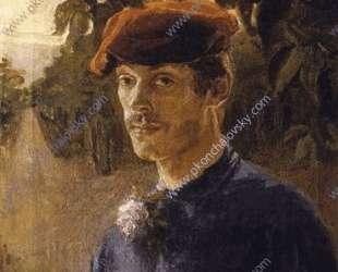 Портрет брата художника, Максима Петровича, в берете — Пётр Кончаловский