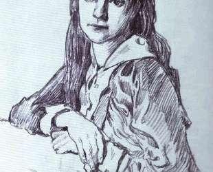 Portrait of the Artist's Daughter, Vera — Мстислав Добужинский