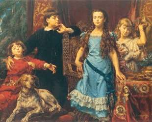 Portrait of the artist`s four children — Ян Матейко