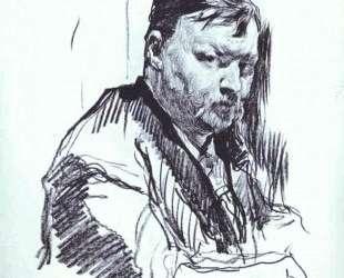 Портрет композитора Александра Глазунова — Валентин Серов